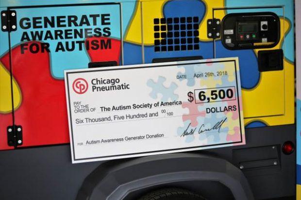 Chicago Pneumatic Power Technique Raises Awareness for Autism