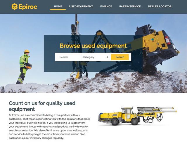 Epiroc_Marketplace Website