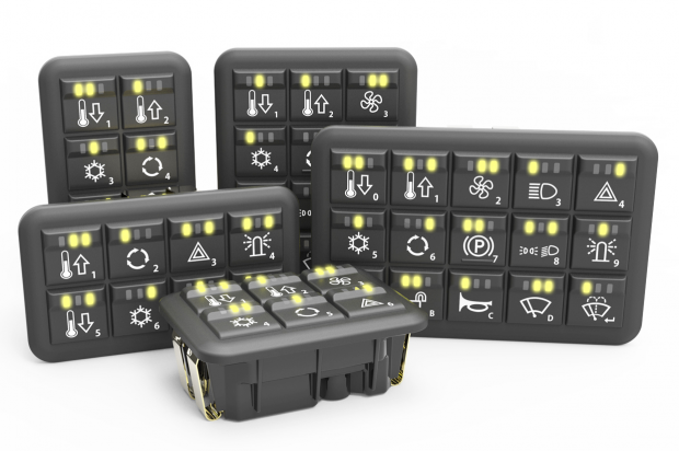 Grayhill Announces Updated CANbus Keypads and MMI Controllers for Off-Highway Vehicles