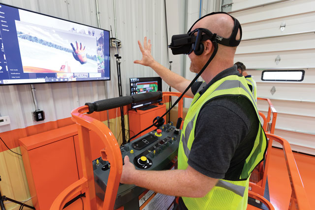 JLG lift and access virtual simulator