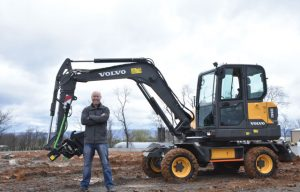 Operation Volvo: Be the First North American Journalist to Operate the EW60E Wheeled Excavator