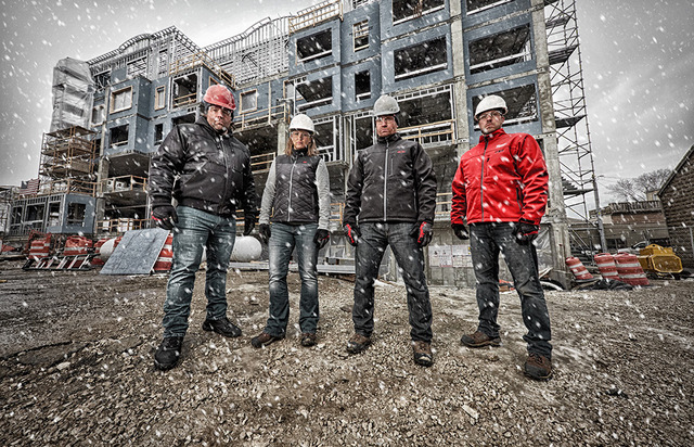 Construction workers winter 2018 Heated Gear Family Shot