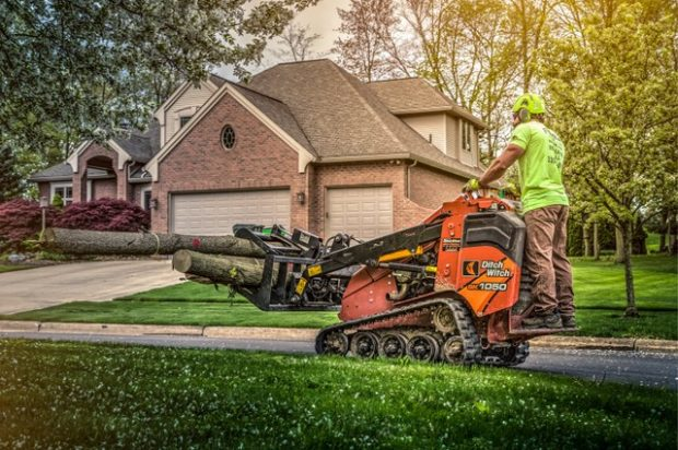 Ditch Witch mini skid steers help Ohio's Rogue Tree Care conquer hazardous tree removal and pruning jobs