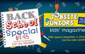Jobsite Juniors Is Having a Back-to-School Special!