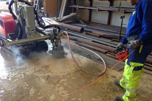 Aquajet Systems Rotolance Hydrodemolition Attachments Roughen Concrete Surfaces