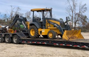 John Deere Dealer Provides Backhoes to Aid Hurricane Recovery in Florida