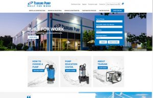 Pump Expert Tsurumi Launches New Website for Improved User Functionality and Better Access for Dealers