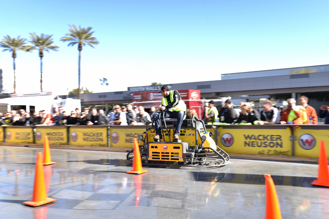 World of Concrete Decorative Concrete Polisher