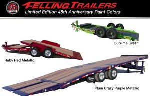 Felling Trailers Commemorates 45th Anniversary with Limited Edition Colors