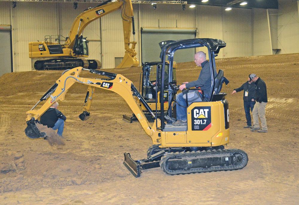 cat mini excavator