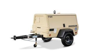 Doosan Portable Power Releases Updated P185 Air Compressor with Doosan Airend, Longer Runtime