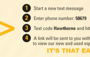 Hawthorne Cat Debuts Cool Hawthorne-Specific Inventory App for both New and Used Machines and Parts