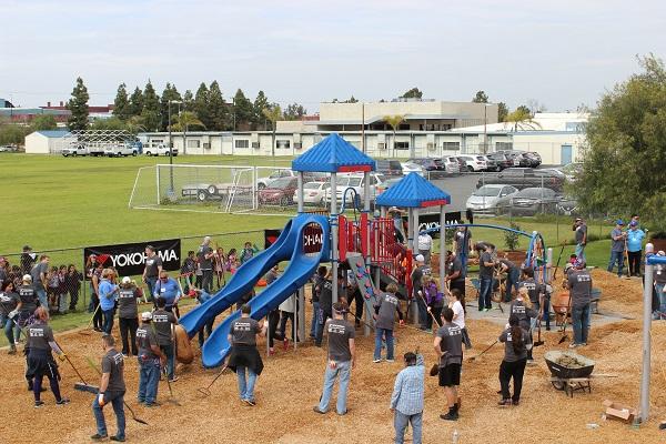 Yokohama Tire KaBoom playground build in Huntington Park
