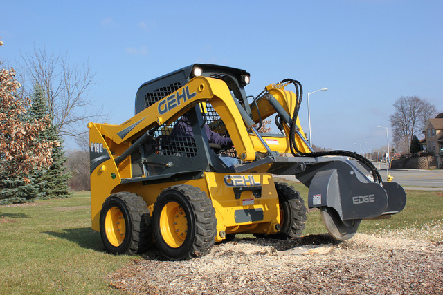Edge Gehl skid steer stump grinder