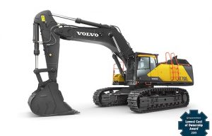Volvo CE Machines Win EquipmentWatch's Highest Retained Value and Lowest Cost of Ownership Awards