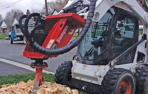 Rise and Grind: Find the Right Skid Steer/Track Loader Stump Grinder and Get to Work