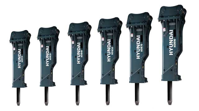Hyundai HDB Hydraulic Breakers