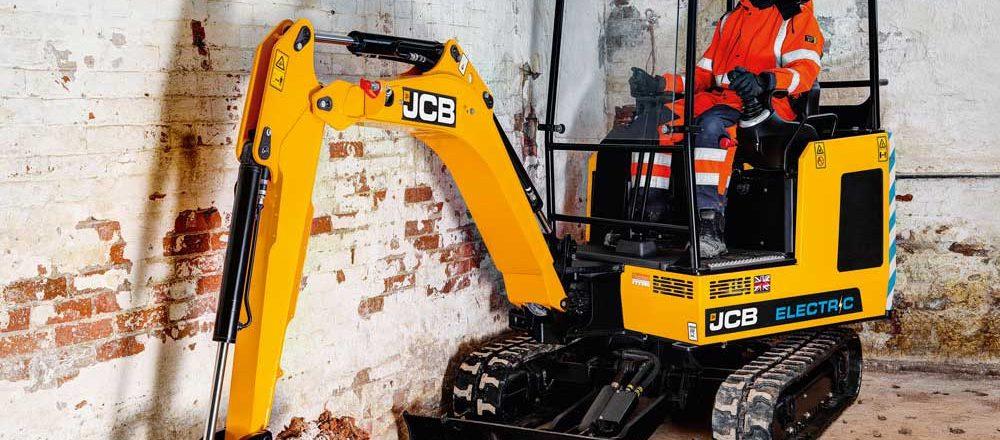 JCB's 19C-1 IE electric excavator.