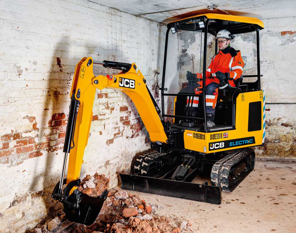 JCB's 19C-1 IE electric excavator.