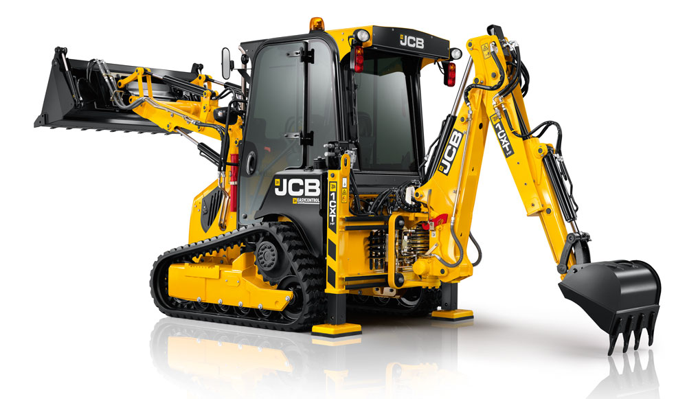 JCB tracked backhoe