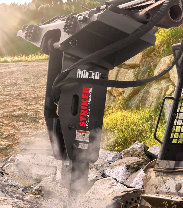 Striker Hydraulic Breakers Are Impressive Tools of Destruction