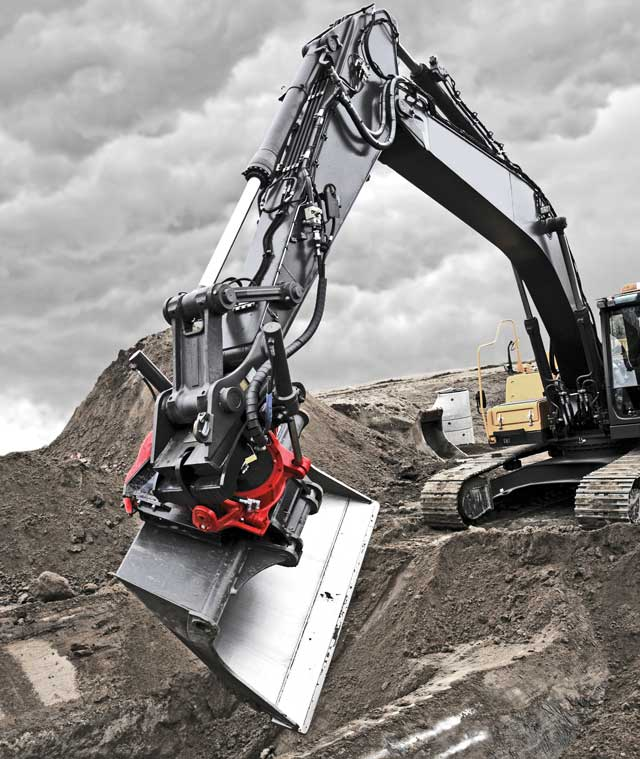 Models of the Rototilt coupler can be married to mini excavators as small as 1.5 tons and to machines as heavy as 40 tons.