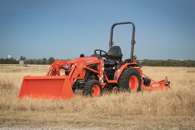 Kubota tractor in field