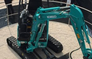 Kobelco Mini Excavator Fitted with an All-Electric E-DEUTZ Drive at bauma 2019