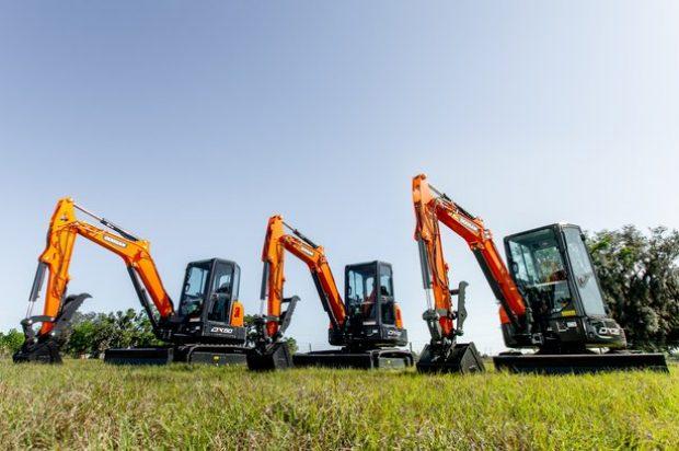 Enjoy these Photos of Doosan Infracore's Three New Mini Excavator Models