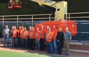 JLG Celebrates with First Winner of Crews Across America Sweepstakes