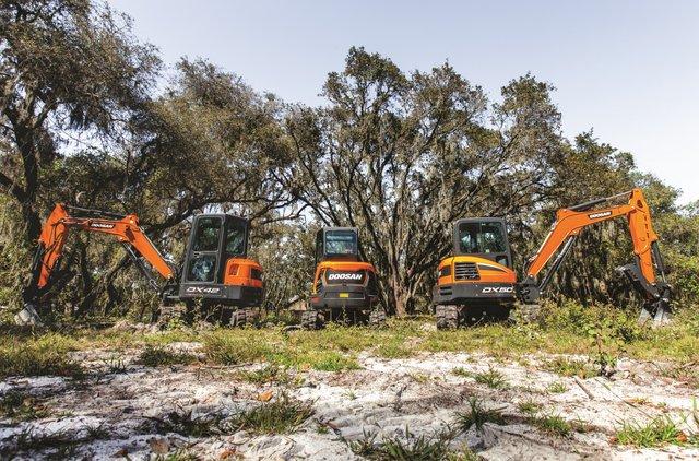 New Doosan mini excavators