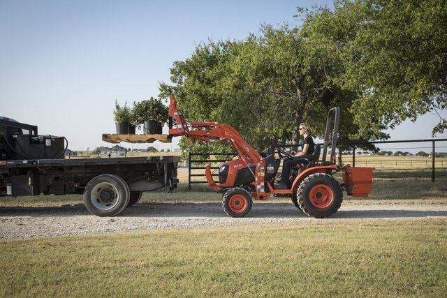 Kubota tractor in field