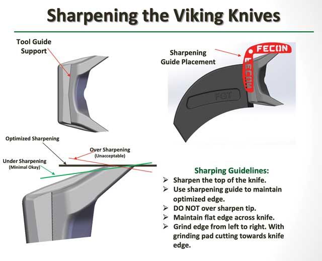 sharpening the viking knives