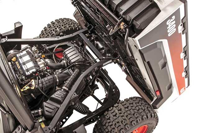 utv engine close-up