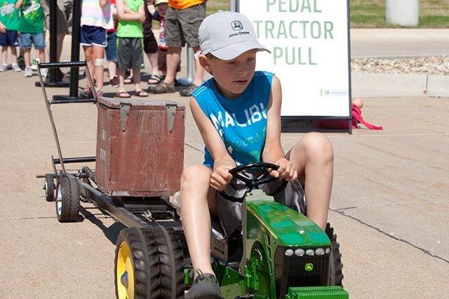 John Deere tractor child