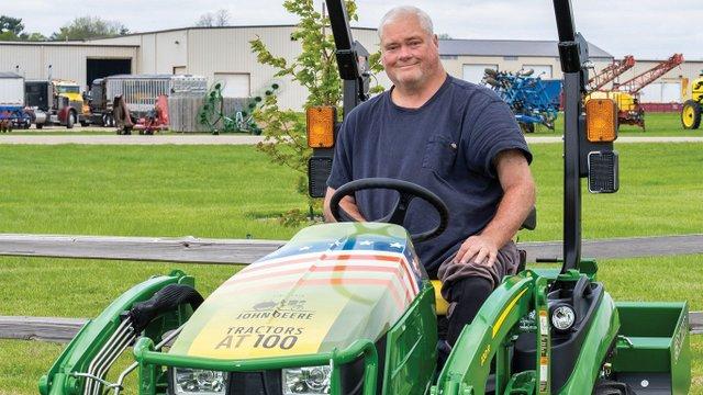 John Deere tractor winner