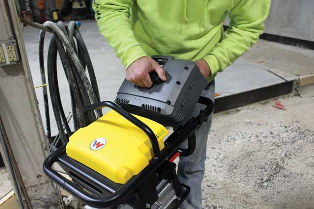Wacker Neuson AS50 cordless battery rammer
