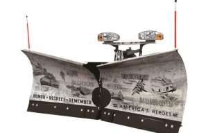 Friday Fun: Western Products Partners with Pro-Tech to Auction Off Military-Themed Plows at the SIMA Snow and Ice Symposium