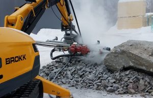 Brokk Introduces the MMB326 Hydraulic Drifter Rock Drill
