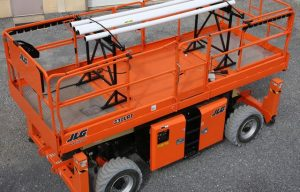 JLG Introduces Larger Material Racks for Scissor Lifts