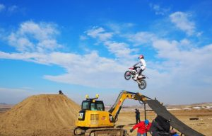 Unconventional Applications: Cat Excavator and Trimble Earthworks Help Build Dirt Ninja Bike Track