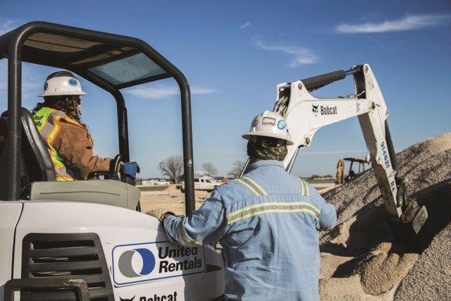 United Rentals excavator