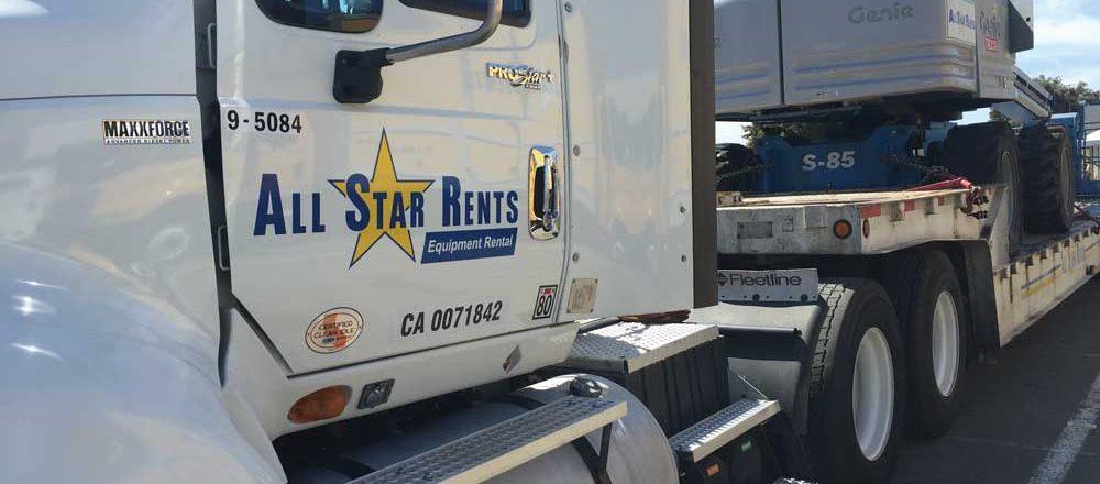 All Star Rents truck