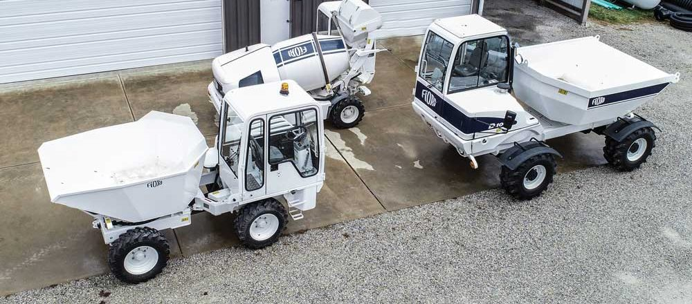 concrete batch vehicle and dumpers