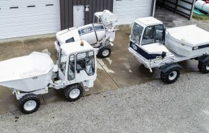 Concrete Combo: Contractor Relies on Uniquely Reversible Dedicated Dumpers and Concrete Batch Vehicle