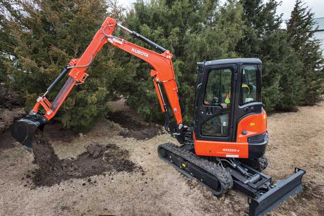 Kubota KX033-4 Compact Excavator with Dipper Arm