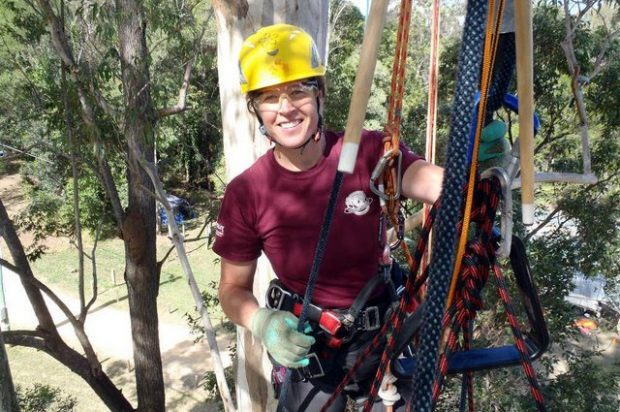 Dang, dig this cool idea: Arborist demos for Women's Tree Climbing Workshop added to GIE+EXPO with actual 40-ft indoor tree