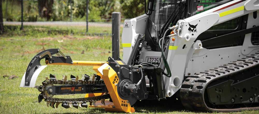 Auger Torque USA trenching attachment