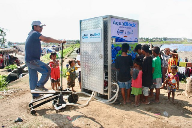 Xylem and Planet Water Partnership - AquaBlock at Lombok Earthquake Camp