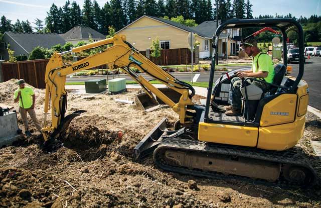 Kobelco mini excavator
